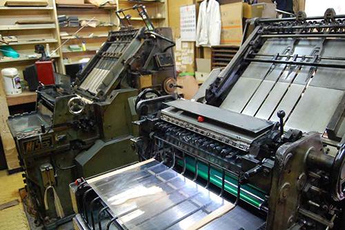活版 印刷 機 構造